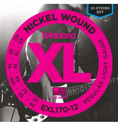 EXL170-12 NICKEL WOUND 12-STRING BASS, LIGHT, [18-45]