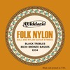 EJ34 FOLK NYLON, BALL END, 80/20 BRONZE/BLACK NYLON