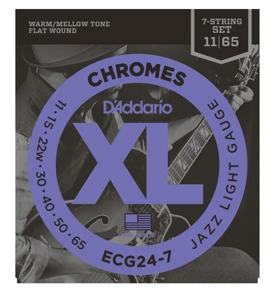 ECG24-7 CHROMES JAZZ LIGHT 7 STRINGS [011-65]