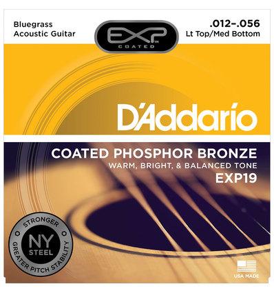 EXP19 COATED PHOSPHOR BRONZE LIGHT TOP/MEDIUM BOTTOM/BLUEGRASS [12-56]