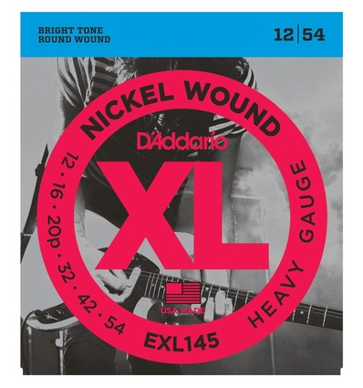 EXL145 NICKEL WOUND, HEAVY, PLAIN 3RD [12-54]